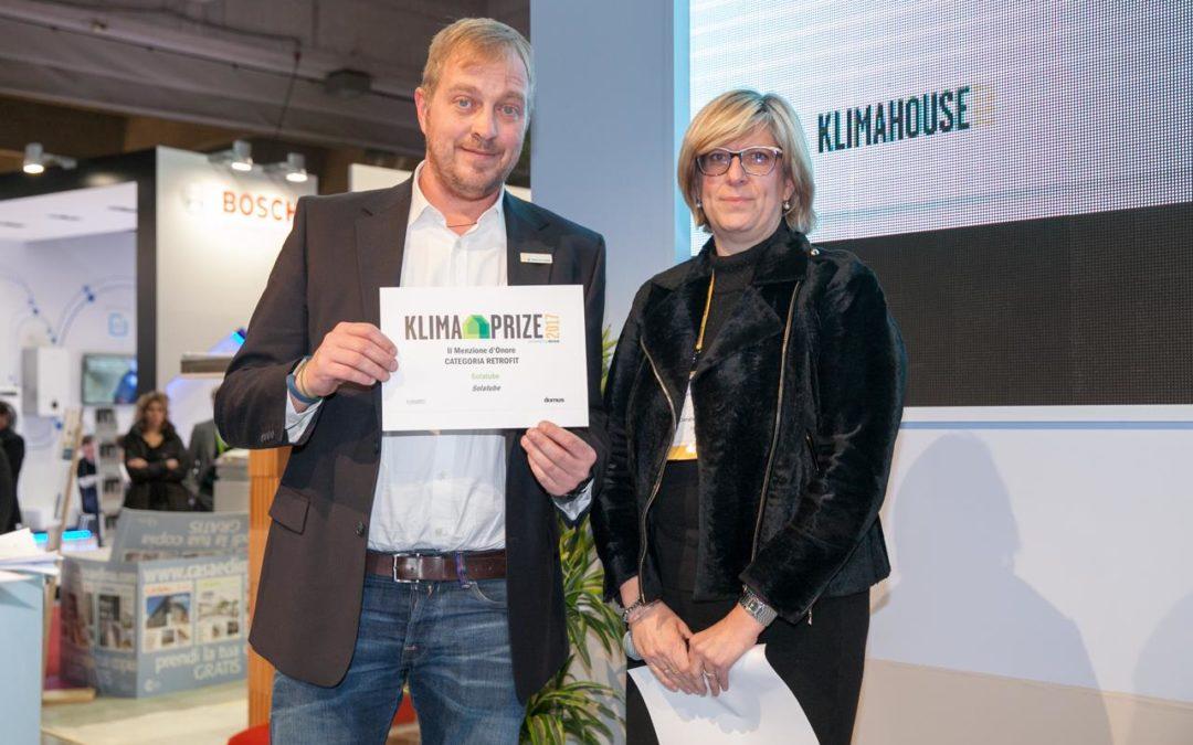 Solatube e Infinity Motion premiate a Klimahouse 2017